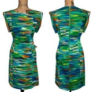 New Direction • Colorful Midi Shift Dress